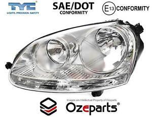 LH LHS Left Head Light Lamp Chrome For Volkswagen VW Jetta 1KM 2006~2011