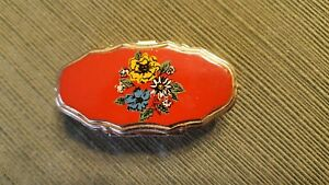 Vintage small Metal Pill Box with (2) sections, made in Japan