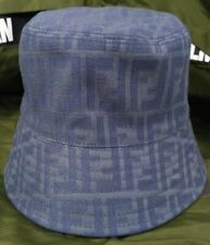 Unisex Fendi Bucket Cap Outdoor Sports Hat Blue