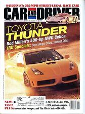 Car and Driver Magazine November 2000 Toyota Celica, Audi S8 and S4 Avant, Honda