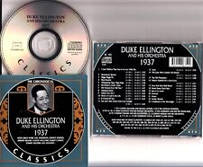 DUKE ELLINGTON- CHRONOLOGICAL CLASSICS 1937 CD (#675 MINT) Ivie Anderson/Hodges
