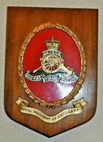 Large Royal Artillery regimental mess wall plaque shield RA