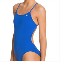 New Womens Nike Solid Racerback One Piece Swimsuit Size 6-14
