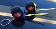 2 x Tape Measure With Metal Keychain 3ft 1m Increadibly Durable Impact Resistant