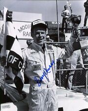 Bobby Unser Hand Signed 8x10 Photo+Coa Racing Legend With Trophy