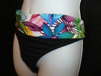 Bikini Swim Bottom LA BLANCA 16 12 10 black White Floral Swimsuit Separates