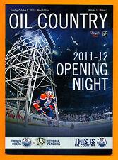 Ryan Nugent-Hopkins ROOKIE 1st NHL Goal Program Oct 9 2011 Edmonton Oilers