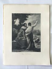 GRAVURE HELIOGRAVURE CHAUVET GEORGES PETIT 1904 DIAZ LES SORCIERES