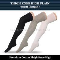 68cm Thigh Knee High Socks Ladies Size 2-8 - Plain colour-Stock from Sydney