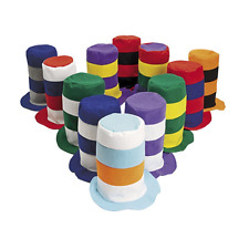 Party Hats for Adults - 12 Pack Felt Stove Pipe Hats by Funny Party Hats