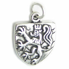 Shield with Lion sterling silver charm .925 x 1 Shields Lions charms SSLP4453
