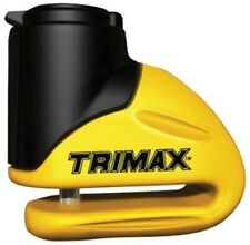Trimax Motorcycle Rotor Disc Lock 5.5 mm Pin Yellow Carry Pouch Reminder Cable