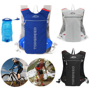 5L Cycling Hydration Backpack Pack Running Vest Rucksack With Bladder Water Bag