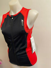 New listing 2XU Men's G:2 Active Tri Singlet Black Red Size M Zip up Brand New