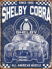 Shelby Cobra, Retro metal Sign/Plaque Wall vintage / Bar Gift