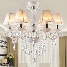 Modern White K9 crystal chandelier for Bedroom indoor pendant light ceiling lamp