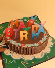 3D Pop-Up Cards handmade Birthday Card for Boy Girl Kids Birthday Cake Greeting
