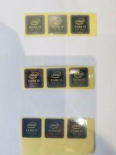 More details for 10 x  i3 i5 i7 8th gen  metal case sticker logo badge decal