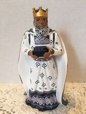 Hawthorne Village King Casper Porcelain Nativity  Figurine Silent Night 2011