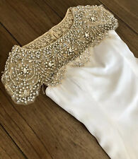 Jovani Sz 0 White Rhinestone BEAUTIFUL Cocktail Pageant Prom Formal Short Dress