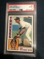 1984 TOPPS #8 DON MATTINGLY ROOKIE RC PSA 9 MINT YANKEES 📈🔥