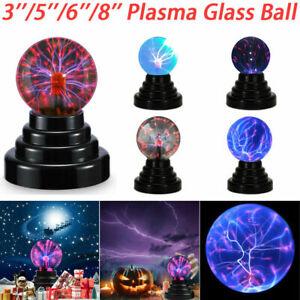 3-8in Electric USB/Battery Plasma Glass Ball Lamp Touch Magic Globe Night Light