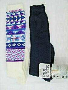 Vintage Fox River Extreme Cold Thermal Wool Skiing Socks Size 9-12 (2 Packs)NWT
