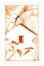 Jorge Sambrana - House and Garden (1990) Canvas Art Poster 16x24