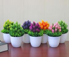 Fake Artificial Plant Plastic Bonsai with Pot Flower Wedding Office Home Decor