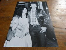 GEORGE & OLIVIA HARRISON - Mini poster Noir & blanc !!!