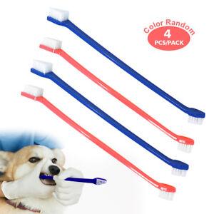 4PCS Dog Toothbrush Pet Cat Teeth Care Dental Cleaning Care Hygiene Fingerbrush