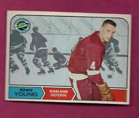 1968-69 TOPPS # 82 GOLDEN SEALS HOWIE YOUNG EX-MT CARD  (INV# A7151)