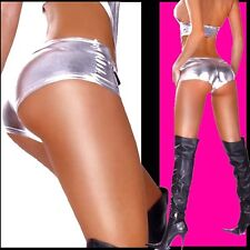 █254██ NEU HOT SEX-XY OVERALL GOGO MONOKINI PARTY JUMPSUIT GLANZ SILBER