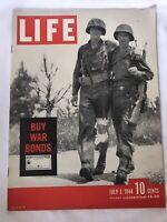 Life Magazine  July 3,1944 Vintage WWII D-DAY NORMANDY-BUY WAR BONDS-POLYGAMY
