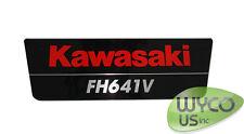 KAWASAKI ENGINE DECAL, 21hp, FH641V, NO HP, LAWNMOWERS, POWER WASHERS, 12C30