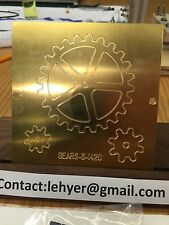BRASS MASTER TEMPLATE OF SPUR GEARS FOR NEW HERMES STEAMPUNK HOMEMADE JEWELRY