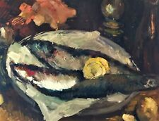 THREE FISHES ON A BORD - FINE COLORFULL PAINTING