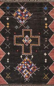Geometric Tribal Moroccan Berber Oriental Area Rug Plush Wool Hand-knotted 6x10