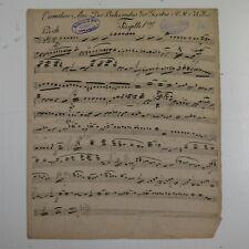 C M v WEBER DER BEHERRSCHER DER GEISTER bassoon part ,antique music manuscript