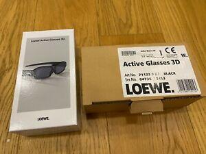 Loewe Active Glasses 3D Boxed complete Art.No. 71133082 BLACK 71133.003 ORIGINAL