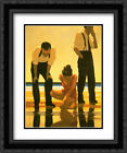 Narcissistic Bathers 2x Matted 20x24 Framed Art Print by Jack Vettriano