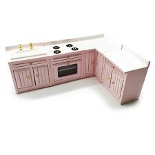 Dollhouse 4Pcs Kitchen Combine-Unit Counter Set 1:12 Miniature Furniture Decor