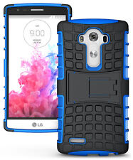 Blue Strong Tough Armour Durable Tradesman TPU Case Cover Stand for LG G4