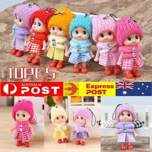 10pcs Kids Toys Soft Interactive Baby Dolls Toy Mini Doll Gift For Girls AU NEW