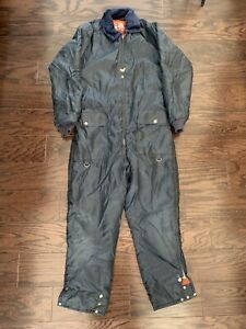 Vintage United Pioneer Blue Snow Snowmobile Ski Snowboard Suit Mens Small Vtg