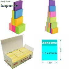 Post It Sticky Notes Pop Up Memo Reminder Neon Colors 2400 12 24 Pads 100 Sheets