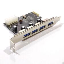 USB 3.0 super vitesse 4 Ports PCI Express carte avec 4 Broche Molex [007775]