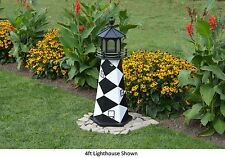 Amish-Made Replica Cape Lookout, Nc Lighthouse with Lighting - In 13 Sizes!