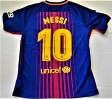 NWT LIONEL MESSI  #10 FCB BARCELONA NIKE  MENS LG AUTHENTIC OFFICIAL JERSEY