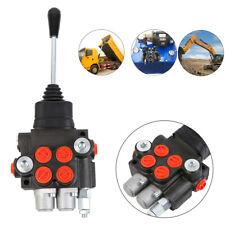 2 Spool Hydraulic Directional Control Valve Tractor Loader Joystick Adjustable